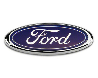 Ford Bonnet Boot Badge Transit Focus Fiesta Mondeo 150MM x 60MM Blue Chrome FR2
