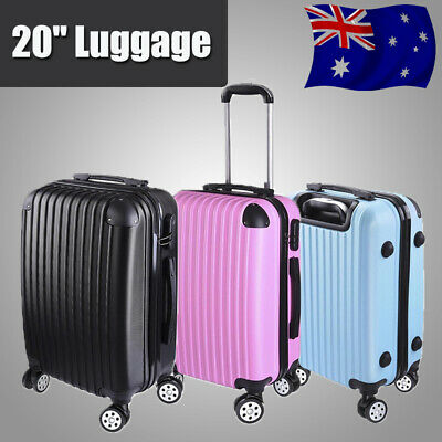 "20"" Cabin Luggage Suitcase Hard Shell Travel Case Carry Bag Trolley Lightweight"
