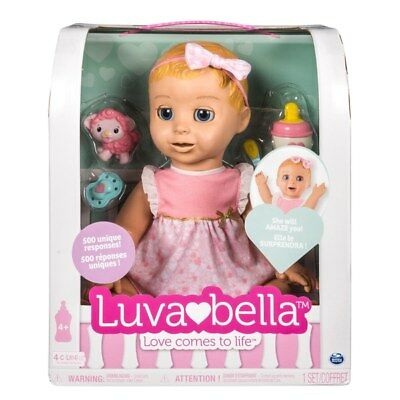 Luvabella Blonde Girl Fully Interactive Baby Doll With Accessories Brand New