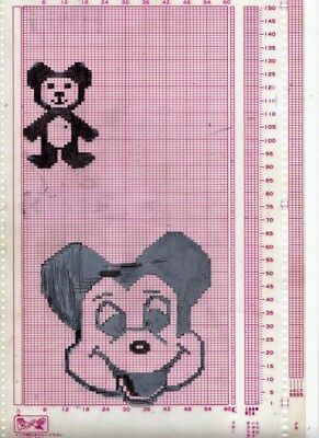 Electronic Knitting Mylar Re-useable design sheets