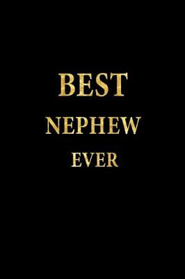Best Nephew Ever: Lined Notebook, Gold Letters Cover, Diary, Journal, 6 x 9 i...
