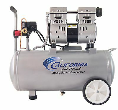 CALIFORNIA AIR TOOLS 8010 Ultra Quiet, Oil-Free, Lightweight Air Compressor-USED