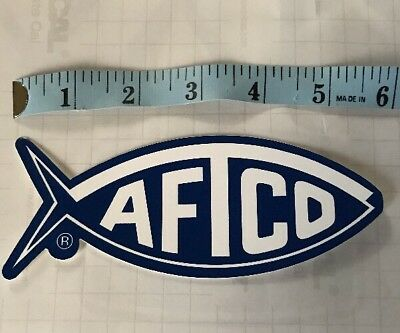 d7d8063c652cf AFTCO AMERICAN FISHING Tackle Co Fishing Decal Sticker blue Logo ...