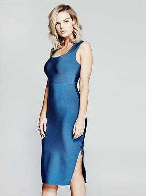 4a944d2a0a NWT GUESS By Marciano Olesia Blue Tank Bodycon Bandage Cocktail Dress XS