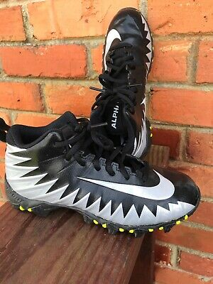official photos 4ce44 321da Nike ~Fast Flex Alpha Shark ~ Black Gray ~Football ~ Cleats ~ Size