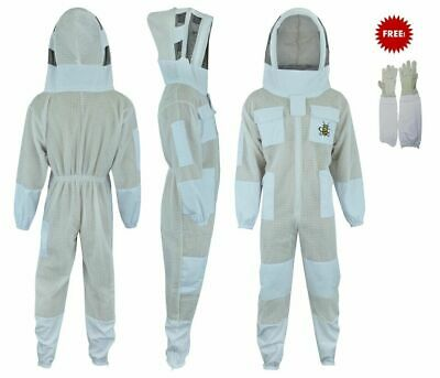 L Ventilated Bee Jacket Body comfort 3 layer mesh vented beekeeper jacket
