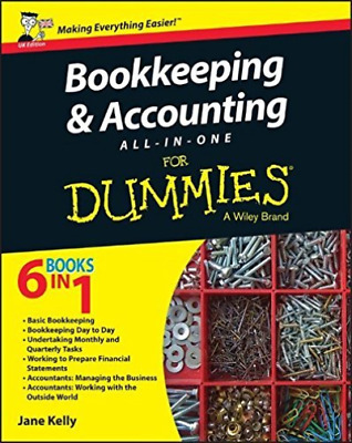 Bookkeeping & Accounting AllO??inO??One For Dummies, UK Edition BOOK NEW