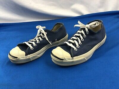 36531b10b939 RARE Vintage CONVERSE Low Top Canvas JACK PURCELL Blue Shoes Size 6 Made in  USA