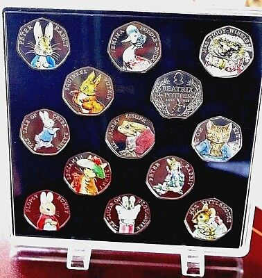 🐸 2016 2017 2018 Beatrix Potter 50p BU COIN COLOUR  in Display 🐇