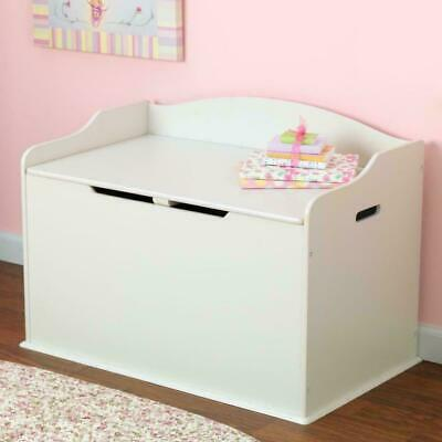 Pink Wooden Kids Toy Box Storage Unit Chest Ottoman Trunk Nursery Bedroom Home