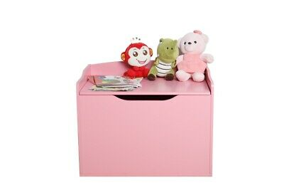Large Wooden Toy Box Childrens Storage Bench Kids Chest White Playroom Unit Toys