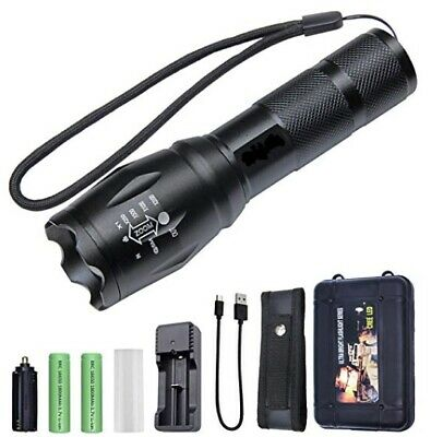 Linterna Led Recargable Tactica Policial Zoom De Led Cree T6