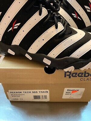 839d2ebb85d Men s Reebok Tech 90s Train V55133 Frank Thomas Big Hurt Black White Size 11
