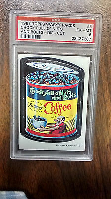 1967 Topps WACKY PACKAGES Die Cut #5 Chock Full of Nuts - PSA 6 Ex/Mt - Scarce!!