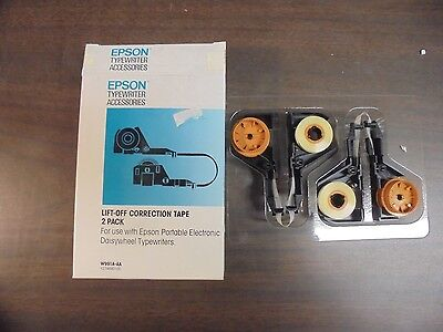 NIB Epson Typewriter Accessories Lift-Off Correction Tape 2 Pack W991A-AA