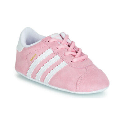 finest selection 4192e 49e5f scarpe neonato neonata ADIDAS ORIGINALS GAZELLE CRIB Bianco baby sneakers  Rosa