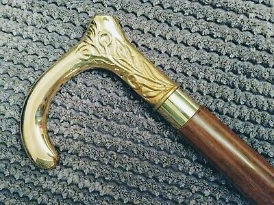VIP STAR WALKING STICK: Simple stunning design (brown/gold) 0057