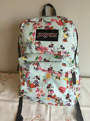 ac78c87dcac JanSport Disney Superbreak Blooming Minnie Mickey Mouse Backpack New WOT  Nice!