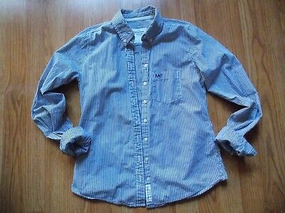 7f232b82 Abercrombie & Fitch women Navy / white striped Top button down Shirt sz  Small