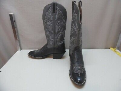 a5cdcdf6111 MEN'S HONDO BOOTS Black and Gray Western Cowboy Boots 9 B (i589)