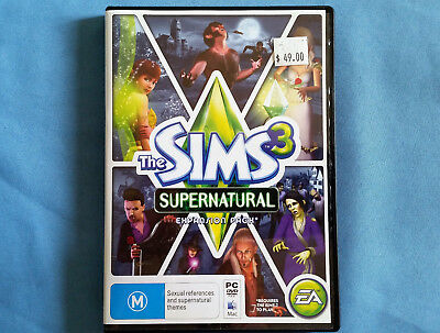 The Sim Supernatural expansion ,PC or Mac- in excellent condition