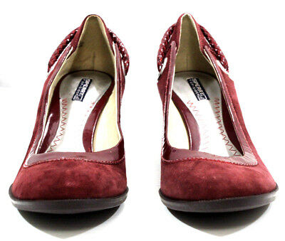 e13dc46c0b Sperry Top Sider Womens Shoes Wood Wedge Slip Rope Suede Leather Burgundy  Size 8