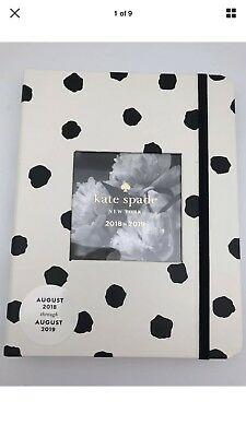 Kate Spade Medium Spotty Dot Planner Agenda Calendar Academic Cal  2018/2019