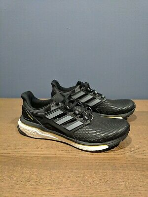 best loved 726c9 12e94 New Adidas Energy Boost Mens Running Shoes Black White CQ1762 Size 10.5