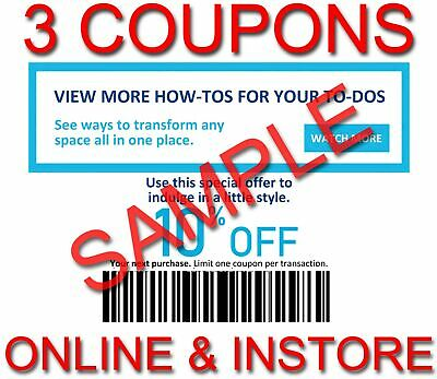 3x Lowes 10% OFF INSTANT Discount Code Fastest DELIVERY-1COUPON INSTORE/ONLINE