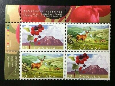 Canada #2105-2106a MNH, Biosphere Reserves UL Plate Block of Stamps 2005