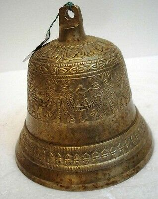 BRASS Bell - Marine / Religion / Spiritual - Height: 5.5 - Weight:1.36 (1363)