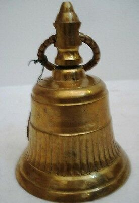 BRASS Bell - Marine / Religion / Spiritual - Height: 6 - Weight:0.675 (1375)