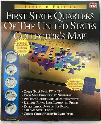 First State Quarters of the United States Collector's Map Certificate 1999-2008