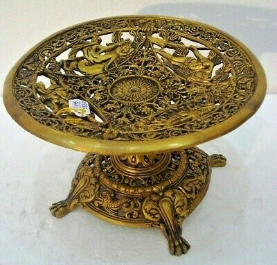 LARGE - Indian Traditional BRASS GOD Worship Stand - Antique Style Work (2145)