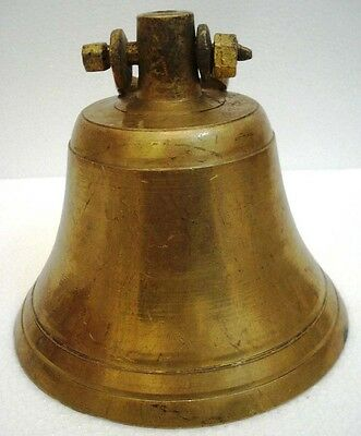 BRASS Bell - Marine / Religion / Spiritual - Height: 9 - Weight: 3.2 (1336)