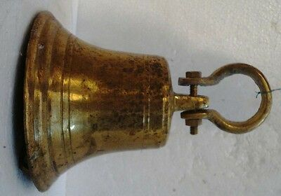 BRASS Bell - Marine / Religion / Spiritual - Height: 8.50 - Weight: 1.97 (1311)