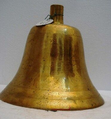 BRASS Bell - Marine / Religion / Spiritual - Height: 7.75 - Weight: 3.64 (1342)