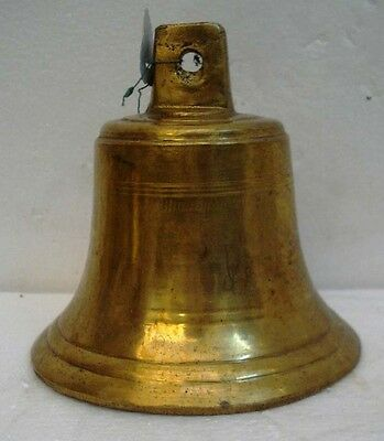 BRASS Bell - Marine / Religion / Spiritual - Height: 7 - Weight: 2.58 (1338)