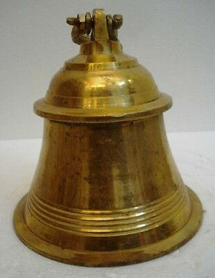 BRASS Bell - Marine / Religion / Spiritual - Height: 9.75 - Weight: 2.82 (1302)