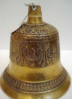 BRASS Bell - Marine / Religion / Spiritual - Height: 7.5 - Weight: 2.78(1359)
