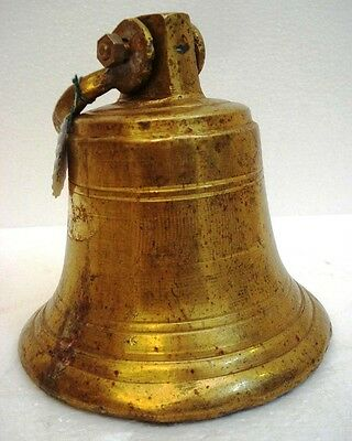 BRASS Bell - Marine / Religion / Spiritual - Height: 9.75 - Weight: 2.92 (1346)