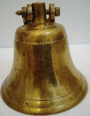 BRASS Bell - Marine / Religion / Spiritual - Height: 10 - Weight: 3.7 (1320)