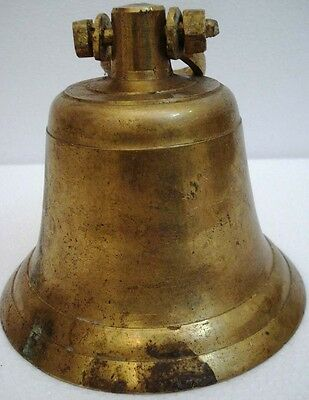 BRASS Bell - Marine / Religion / Spiritual - Height:8.75 - Weight: 2.54 (1335)