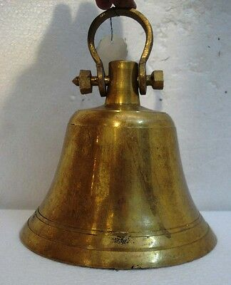 BRASS Bell - Marine / Religion / Spiritual - Height: 9 - Weight: 2.98 (1308)