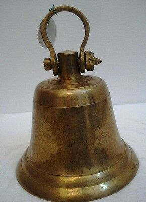 BRASS Bell - Marine / Religion / Spiritual - Height: 8.50 - Weight: 2.59 (1334)