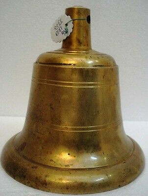 BRASS Bell - Marine / Religion / Spiritual - Height: 7.75 - Weight: 4.64 (1333)