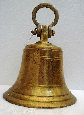 BRASS Bell - Marine / Religion / Spiritual - Height: 9.75 - Weight: 3 (1321)