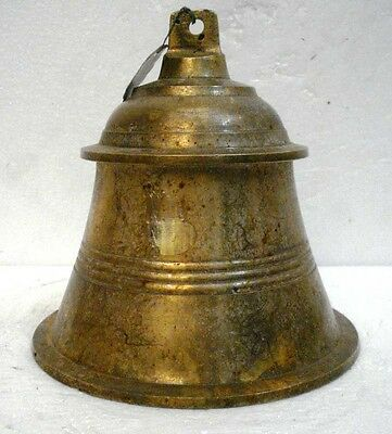 BRASS Bell - Marine / Religion / Spiritual - Height: 8 - Weight: 2.76 (1298)