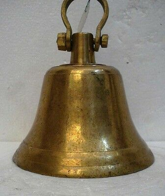 BRASS Bell - Marine / Religion / Spiritual - Height: 9 - Weight: 3.31 (1345)