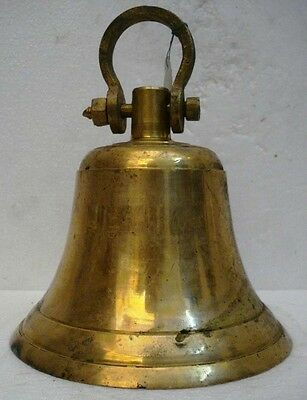 BRASS Bell - Marine / Religion / Spiritual - Height: 10 - Weight: 4.24 (1322)